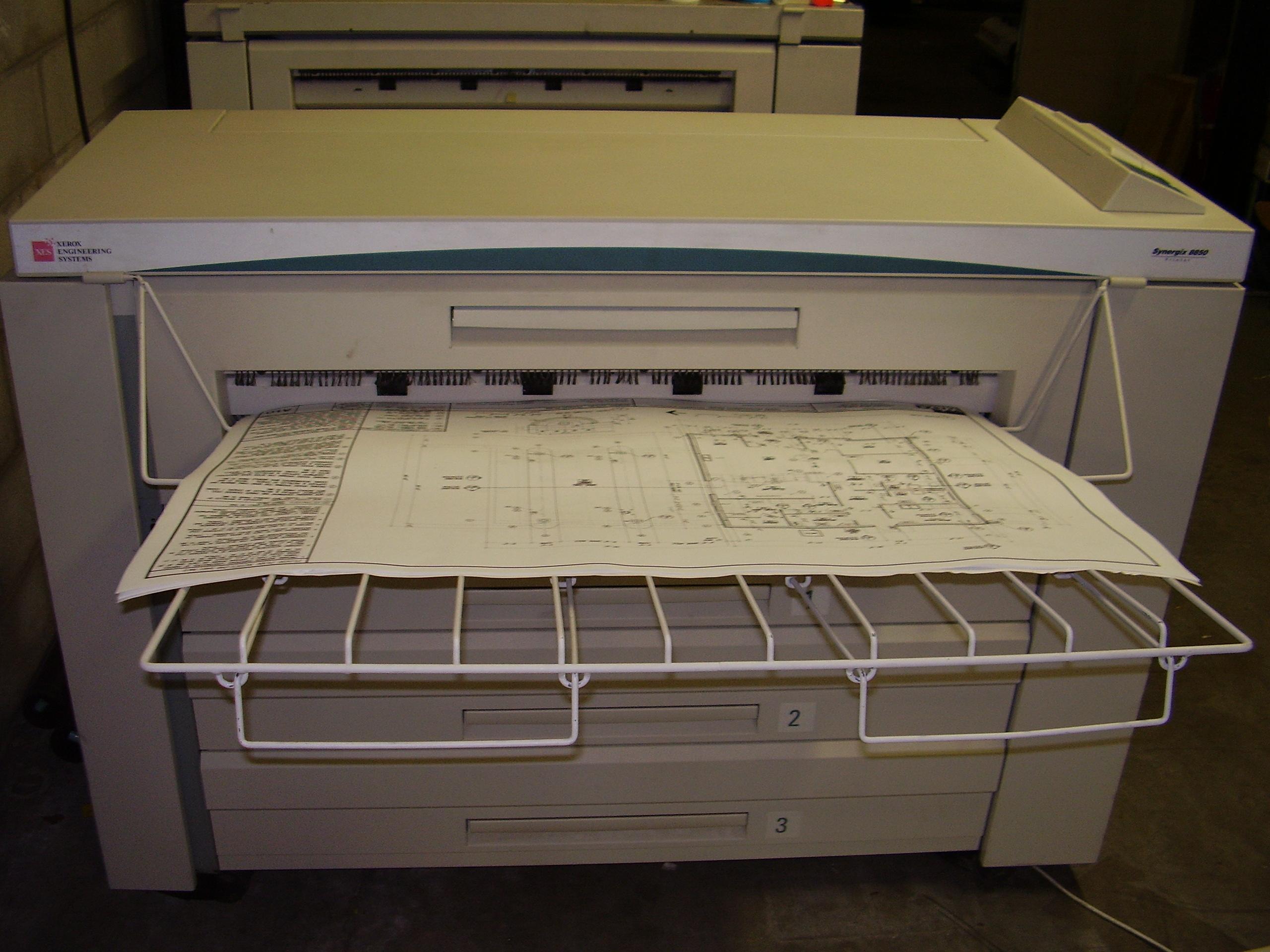 DEMO Xerox 8850 Engineering Copier Color Scanner
