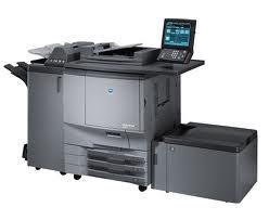 LOW 250k Meter Konica Minolta C5501 Color Copier Printer w Ext Fiery Paper Deck