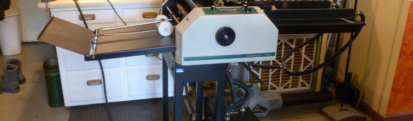 Air assisted Paper Folder Slitter Creaser Perfing FoldMaster Whizard 250